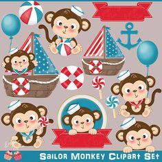 Ballet clipart preschool Sailor Clipart Monkey Baby Clipart
