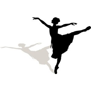 Ballet clipart ribbon The Melo Man Silhouette Clip