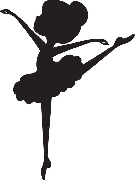 Ballet clipart stencil #3