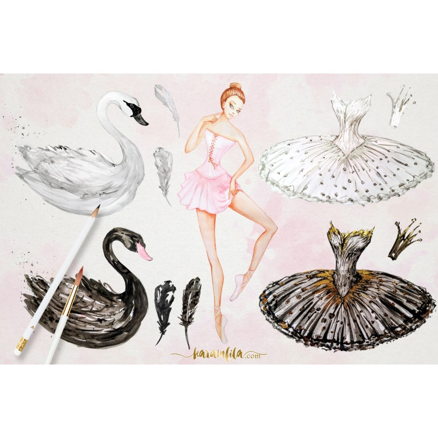 Ballet clipart swan lake Ballerina Lake ClipArt Swan Clipart