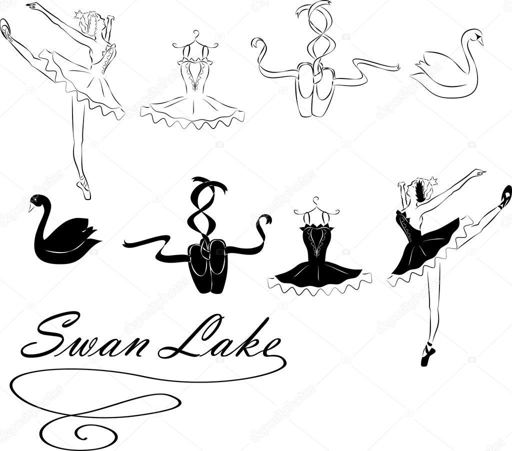 Ballet clipart swan lake Swan Stock Irenian Vector clip