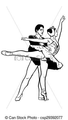 Ballet clipart swan lake Lake of a ballet a