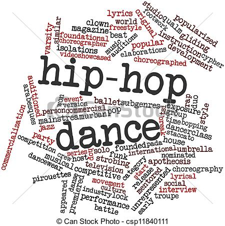 Ballet clipart the word Hop dance Hip of Abstract