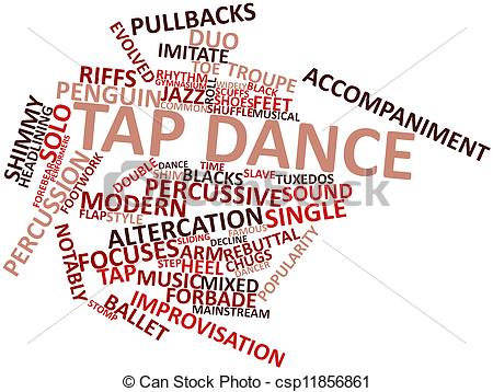Ballet clipart the word Illustration Tap Tap Illustration Abstract