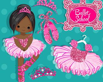 Ballet clipart tiara Pink Hot ballet pink Glitter