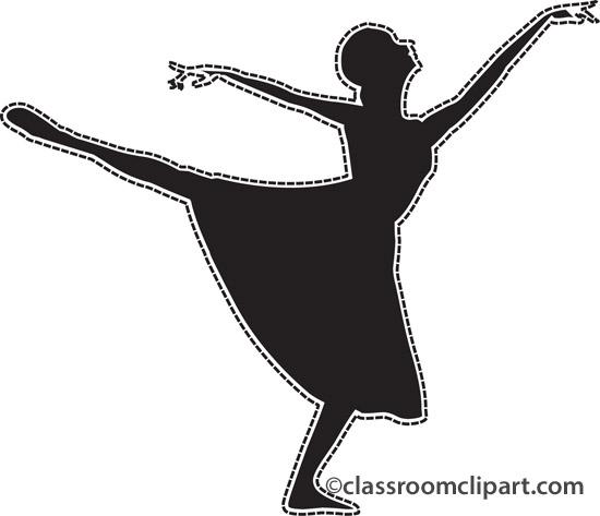 Ballet clipart transparent : dancer_ballet_silhoutte_dotted_lines Dance Clipart dancer_ballet_silhoutte_dotted_lines