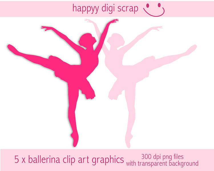 Ballet clipart transparent Digital file dancer a instant