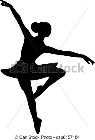 Vector csp8157184 girl dancer EPS