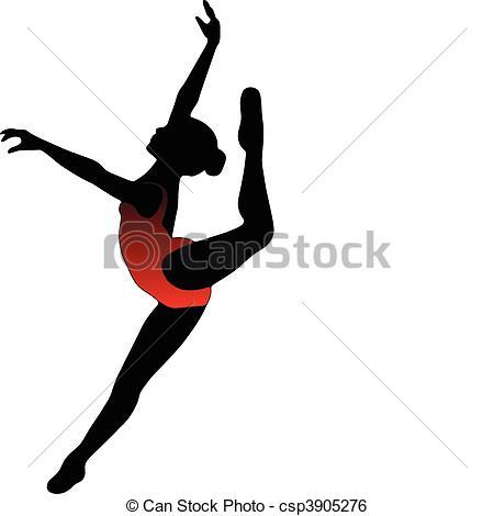 Ballet clipart vector Dance Vector silhouettes Dance Art