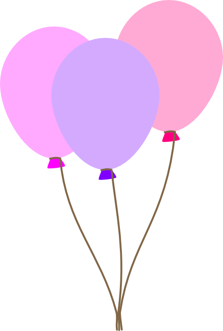 Mauve clipart scissors Balloon Pretty Balloons Pastel Colorful