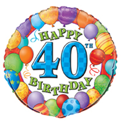 Balloon clipart 40th Birthday Collection clipart Clipart Bouquet