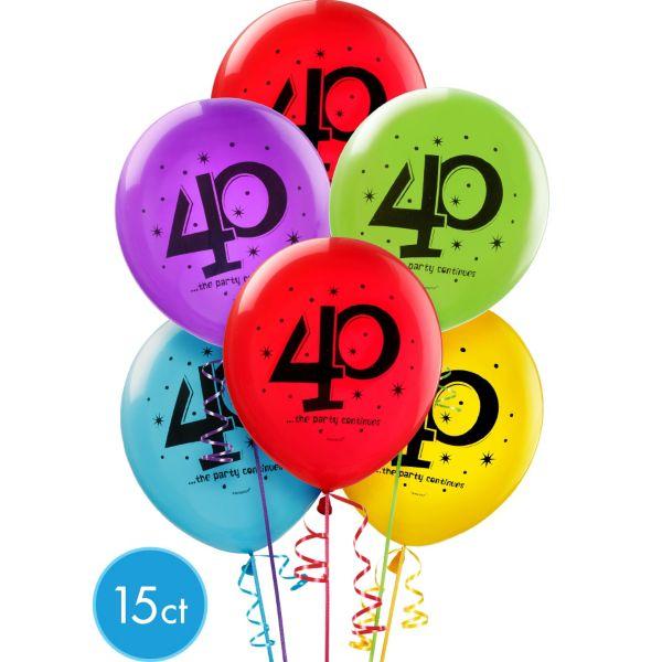 Balloon clipart 40th City Decorations 40th Birthday 15ct