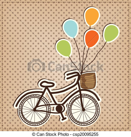Balloon clipart bicycle Balloons  vintage balloons bicycle