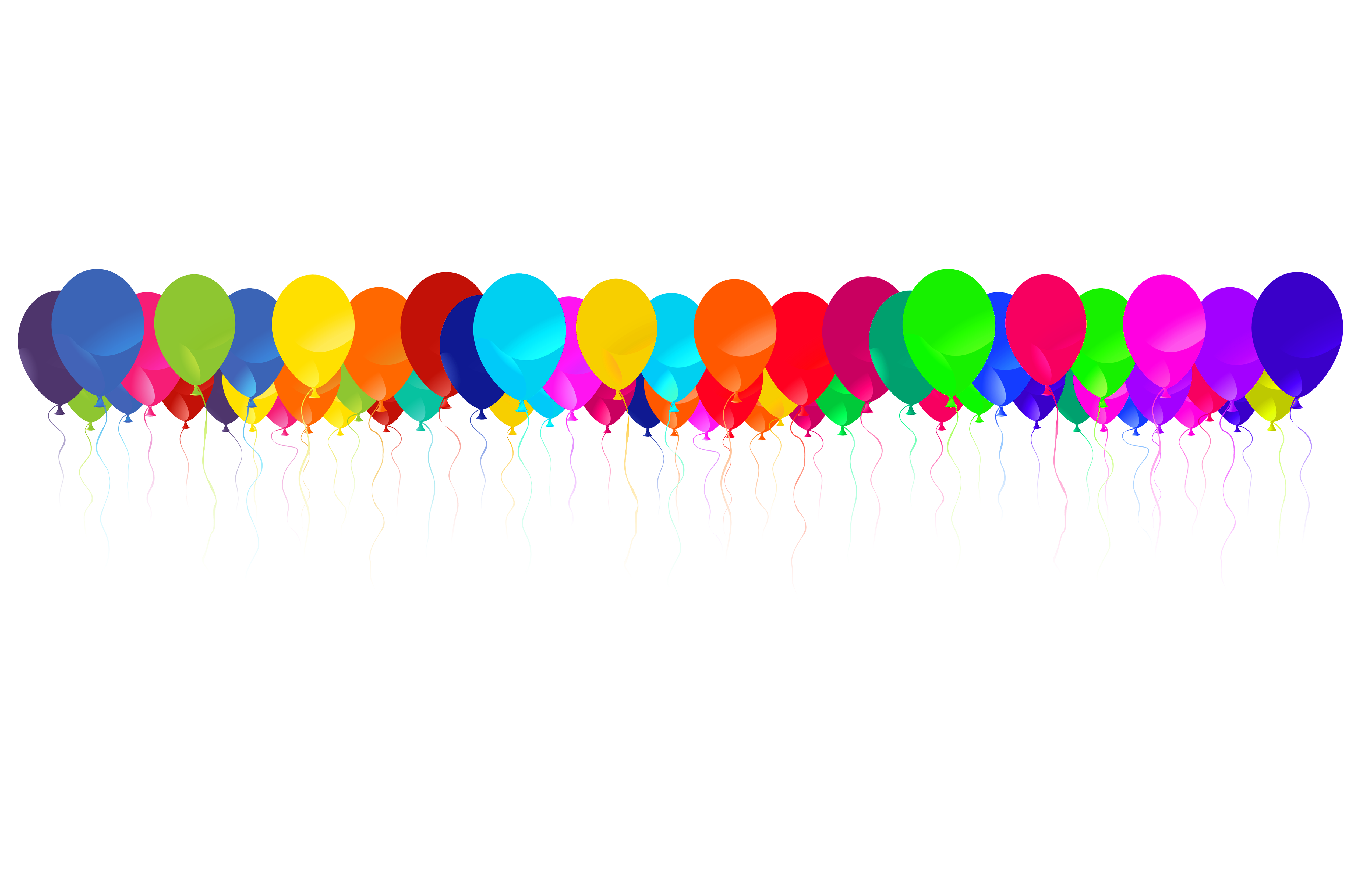 Balloon clipart boarder Png Images Art  Border