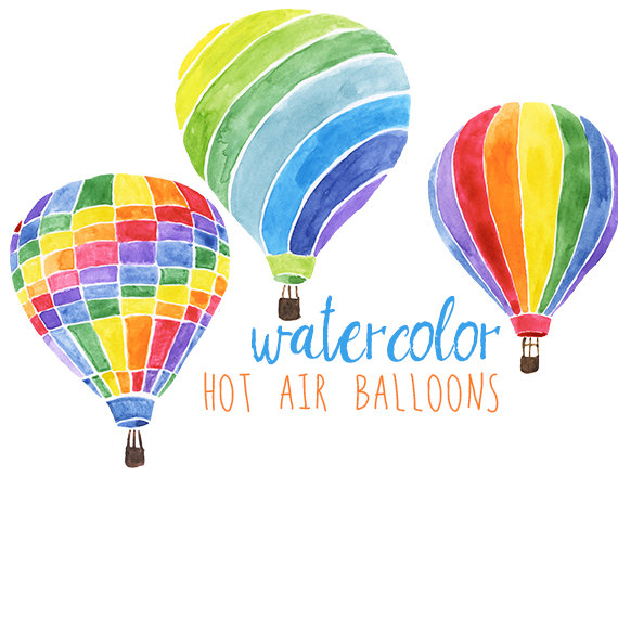 Balloon clipart carnival Summer Watercolor from Watercolor Hot