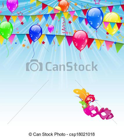 Balloon clipart carnival With Clip background confetti Carnival