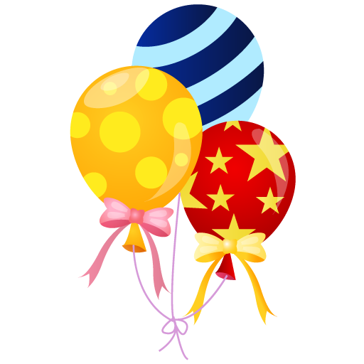 Balloon clipart carnival Pixel Event Balloons Icon People