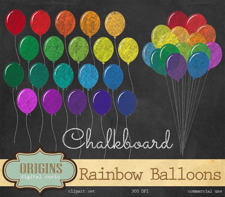 Balloon clipart chalkboard Creative  Chalkboard on Rainbow