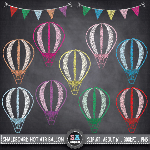Balloon clipart chalkboard AIR Art Like this BALLOONS