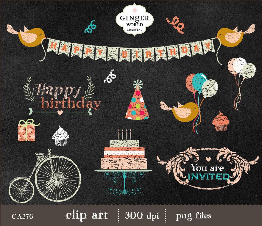 Balloon clipart chalkboard  Birthday Balloon Clip Art