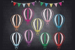Balloon clipart chalkboard Templates Fonts Photos Chalkboard Hot