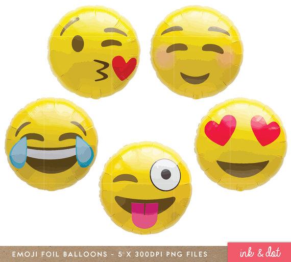 Balloon clipart emoji Etsy Emoticon Clipart Faces Balloon