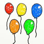 Balloon clipart five Independence Balloon Royalty Day Stock