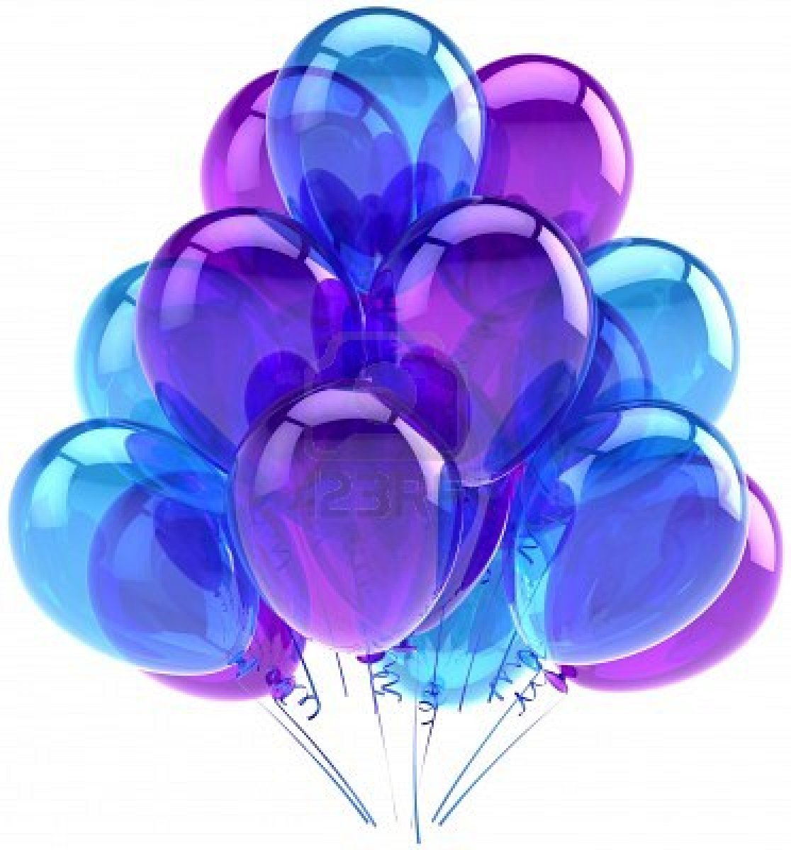 Balloon clipart vector Of  Balloons translucent celebration