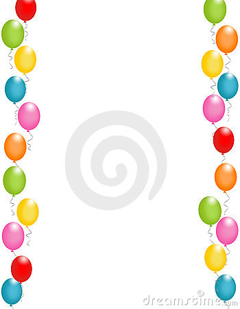 Balloon clipart page border / Page Pin Balloons and