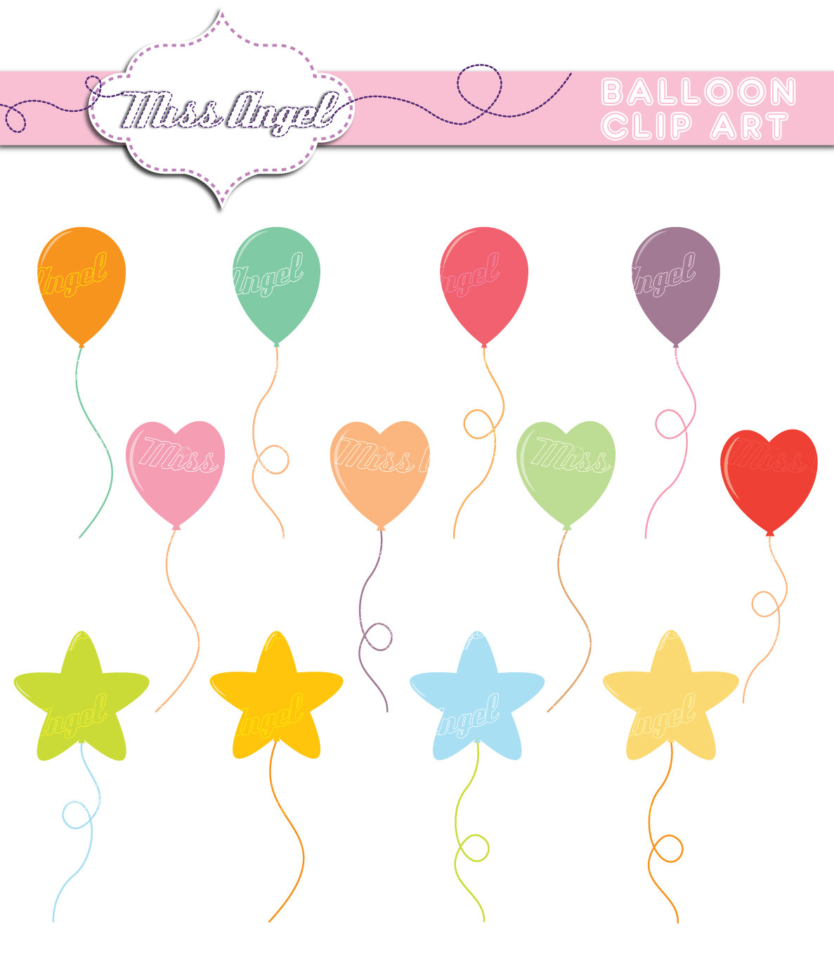 Balloon clipart printable This  CLIPART is digital