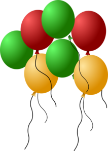 Balloon clipart seven Vector online at Balloons Art
