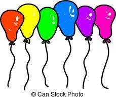 Balloon clipart seven Rainbow and on rainbow Rainbow