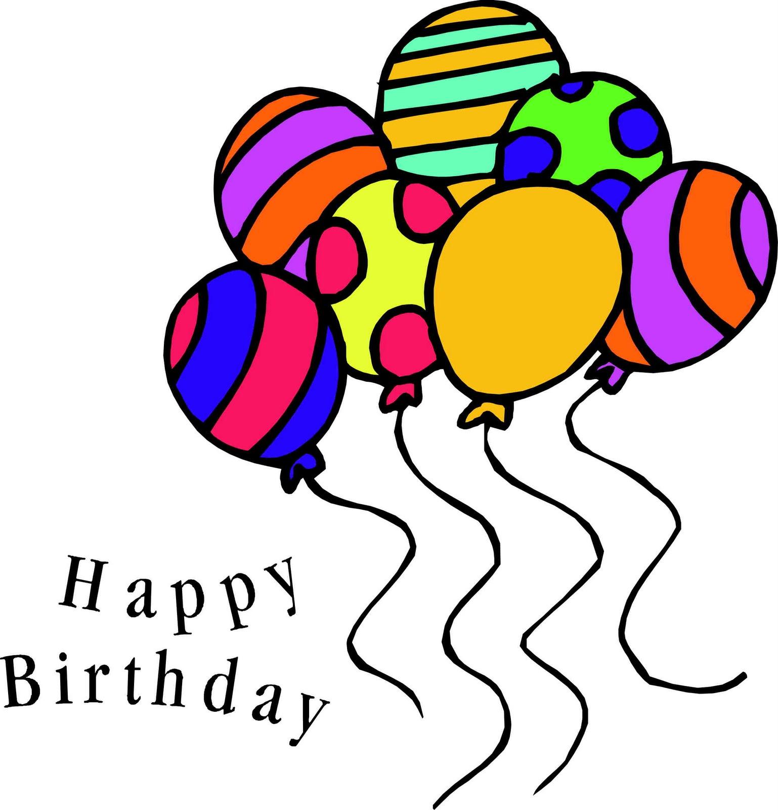 Balloon clipart seven Art  birthday Birthday clipart