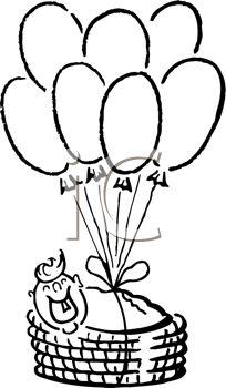 Balloon clipart seven Collection black Air Basket Air