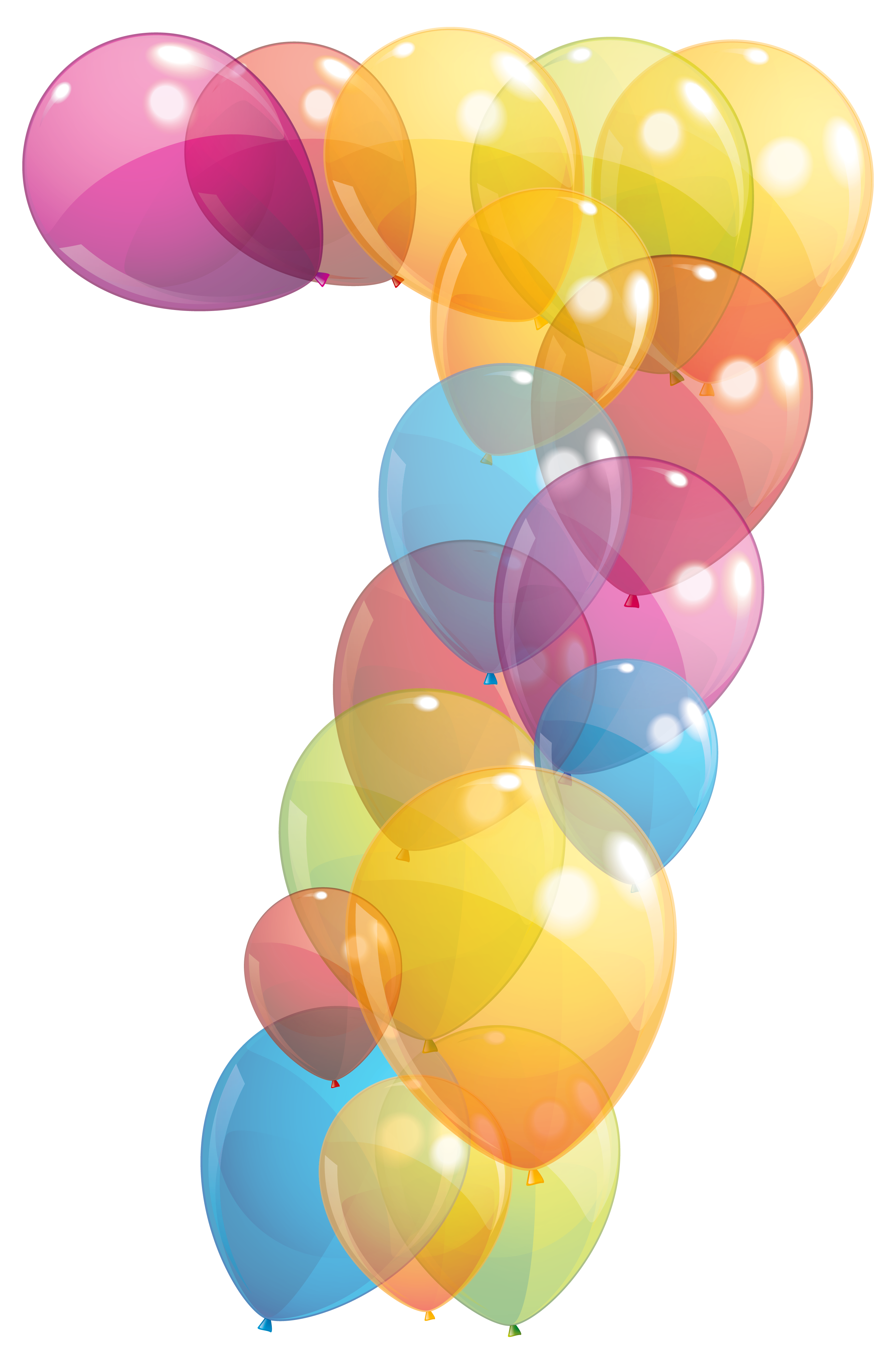 Balloon clipart seven Gallery PNG Number Transparent full