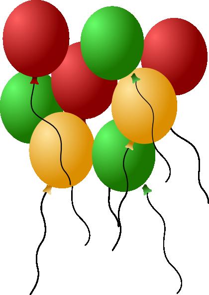 Balloon clipart seven Vector online at Balloons as: