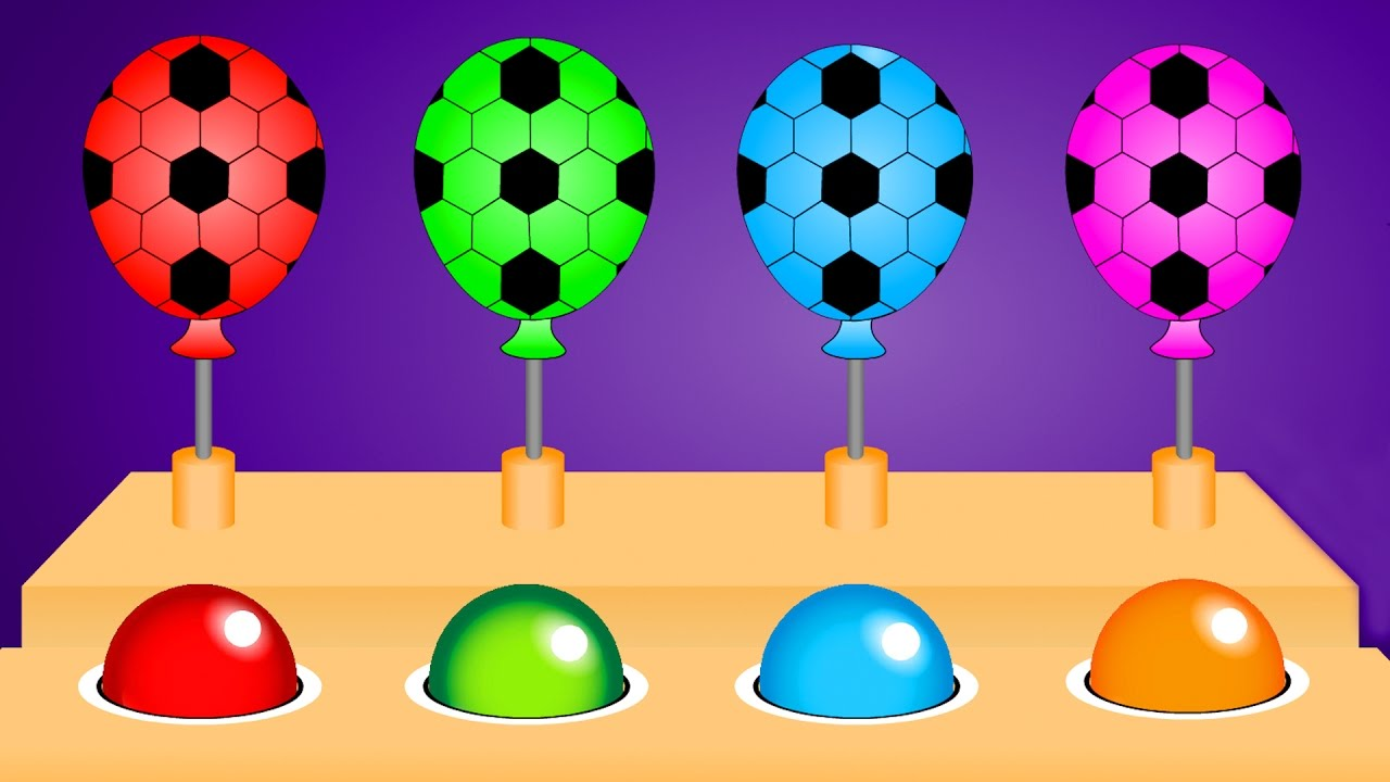 Balloon clipart soccer Learn Balloons Balls Colors