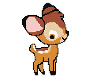 Bambi clipart cuties Instant Easy Download Cross Stitch