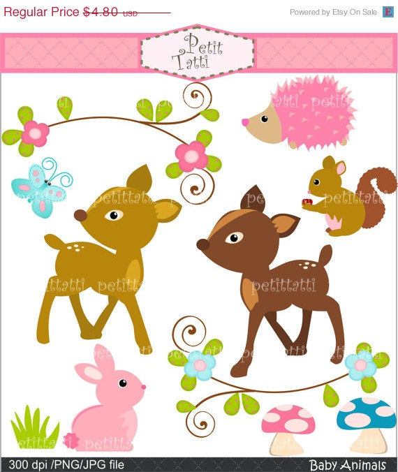 Bambi clipart fawn Fawn squirrel ON Summer Art