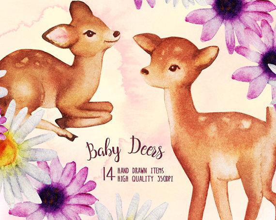 Bambi clipart fawn  Baby Clipart a This