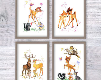 Bambi clipart fawn Decor Bambi 4 decor poster