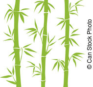 Bamboo clipart White Bamboo background clip Vector