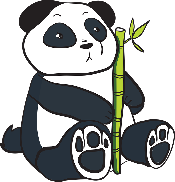 Bamboo clipart cartoon 86 Panda Art Clipart Top