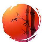 Bamboo clipart japan Background Drawings red of circle