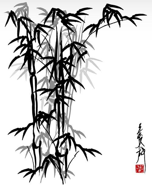 Bamboo clipart japan On 61 and Pinterest Vector