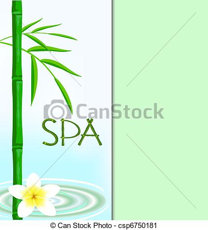 Bamboo clipart spa Vector in salon of The