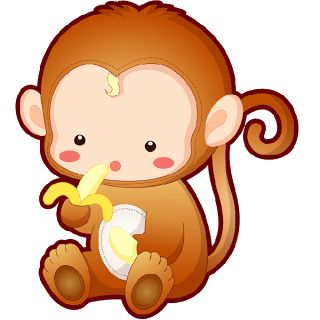 Banana clipart baby monkey Monkeys 2 3 best 1