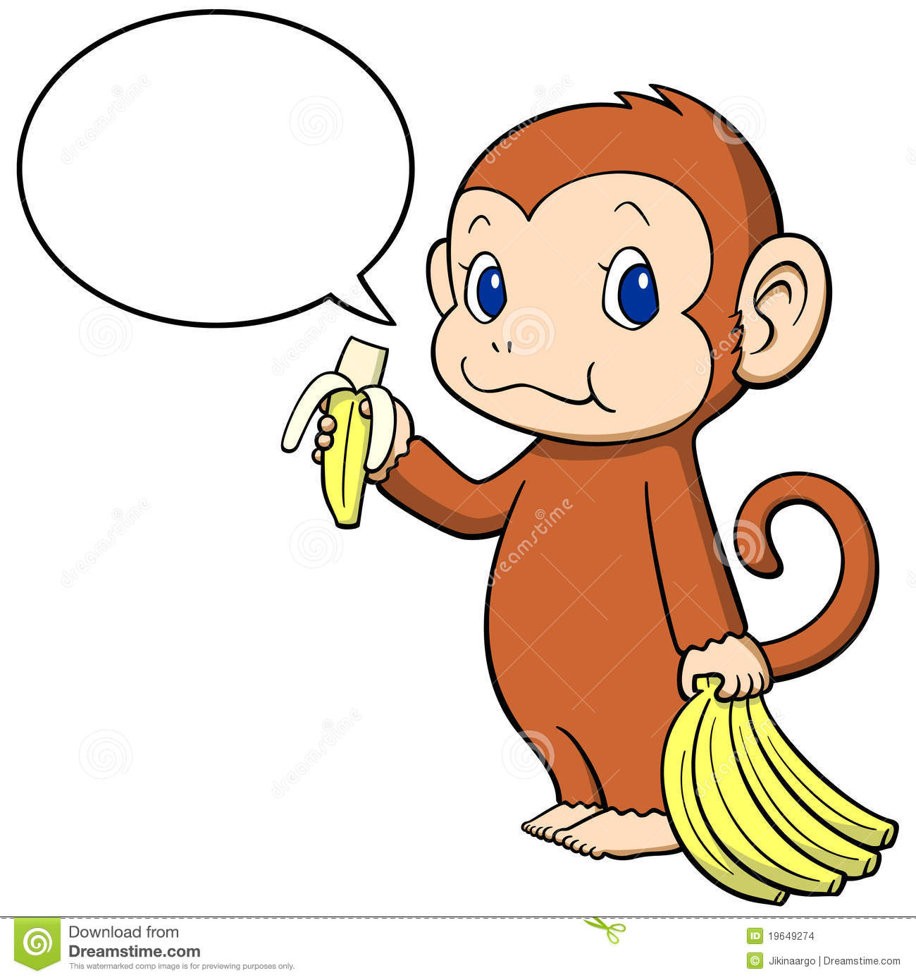 Banana clipart baby monkey Banana monkey Collection cartoon Pictures
