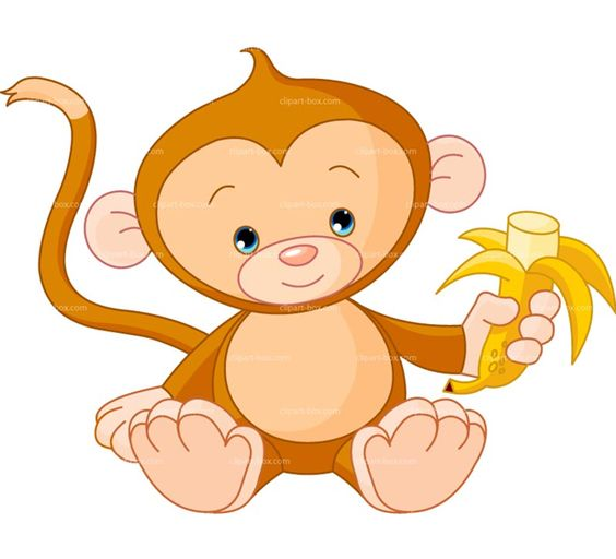 Banana clipart baby monkey Favorite Free com Baby Monkey