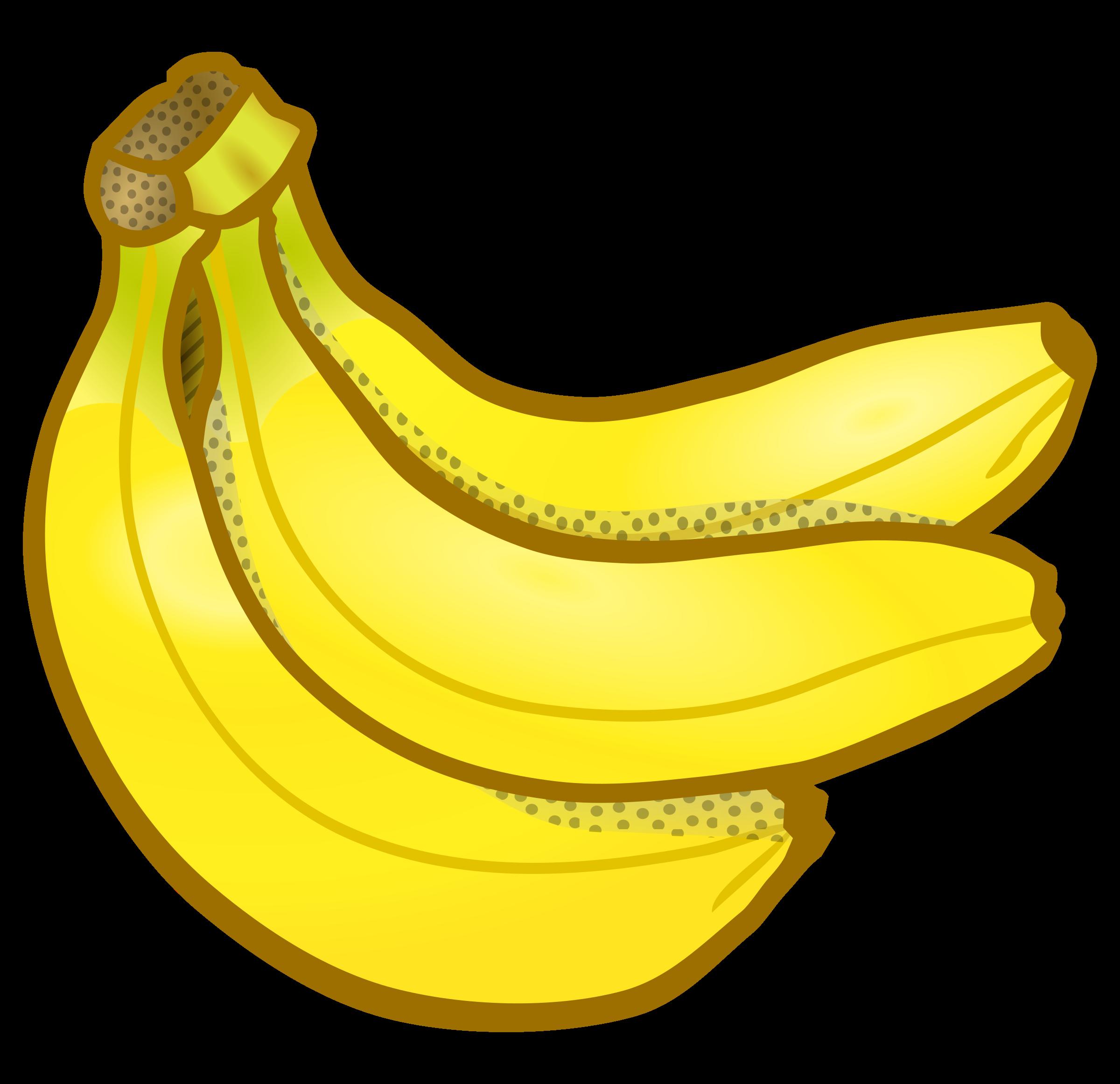 Banana clipart banana bunch Coloured coloured bananas of bananas